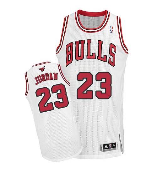 Michael Jordan Authentic Kid's NBA Chicago Bulls Jersey #23 White Alternate
