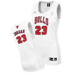Michael Jordan Swingman Women's NBA Chicago Bulls Jersey #23 White Home