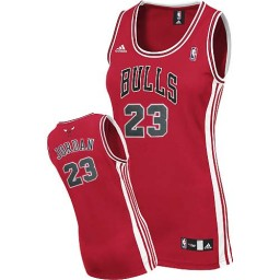 Michael Jordan Swingman Women's NBA Chicago Bulls Jersey #23 Red Road
