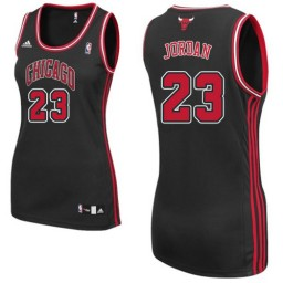 Michael Jordan Swingman Women's NBA Chicago Bulls Jersey #23 Black Alternate