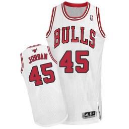 Michael Jordan Authentic Men's Jersey NBA Chicago Bulls #45 White Home