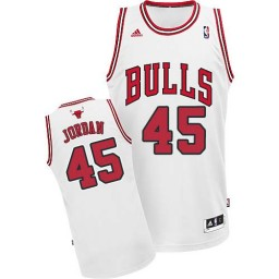 Michael Jordan Swingman Men's Jersey NBA Chicago Bulls #45 White Home