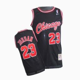 Michael Jordan Authentic Throwback Men's NBA Chicago Bulls Jersey #23 Black