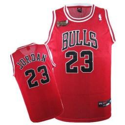 Michael Jordan Swingman Throwback Men's Champions NBA Chicago Bulls Jersey #23 Red