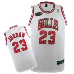 Michael Jordan Swingman Throwback Men's Champions NBA Chicago Bulls Jersey #23 White