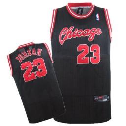 Michael Jordan Swingman Throwback Men's NBA Chicago Bulls Jersey #23 Black Crabbed Typeface