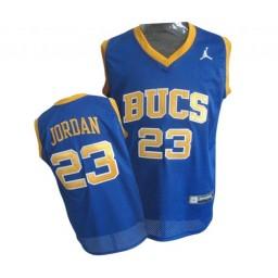 Michael Jordan Authentic Throwback Men's NBA Chicago Bulls Jersey #23 Blue Laney Bucs High School