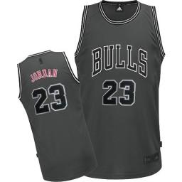 Michael Jordan Authentic Men's NBA Chicago Bulls Jersey #23 Grey Graystone II Fashion