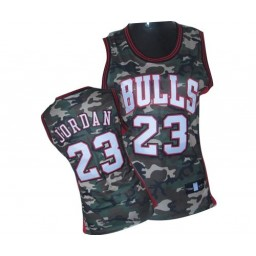 Michael Jordan Swingman Women's NBA Chicago Bulls Jersey #23 Camo Stealth Collection
