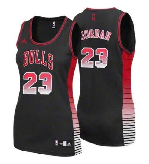 Michael Jordan Swingman Women's NBA Chicago Bulls Jersey #23 Black Vibe