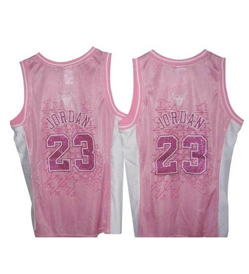 Michael Jordan Swingman Women's NBA Chicago Bulls Jersey #23 Pink Fashion