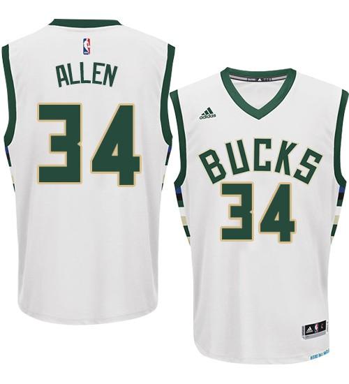 Giannis Antetokounmpo Authentic White Milwaukee Bucks #34 Home Jersey
