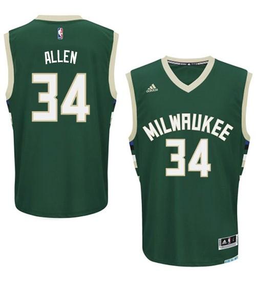 Giannis Antetokounmpo Swingman Green Milwaukee Bucks #34 Road Jersey