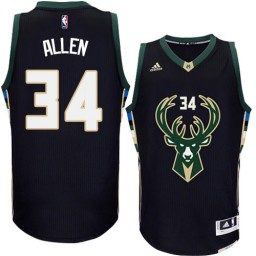 Giannis Antetokounmpo Swingman Black Milwaukee Bucks #34 Alternate Jersey