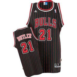 Jimmy Butler Authentic Black Red Chicago Bulls #21 Jersey