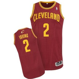 Kyrie Irving Authentic Wine Red Cleveland Cavaliers #2 Road Jersey