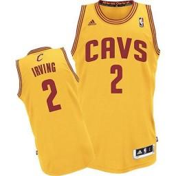Kyrie Irving Swingman Gold Cleveland Cavaliers #2 Alternate Jersey