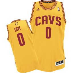 Kevin Love Authentic Gold Cleveland Cavaliers #0 Alternate Jersey