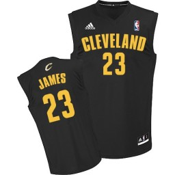 LeBron James Authentic Navy Blue Cleveland Cavaliers CavFanatic #23 Jersey