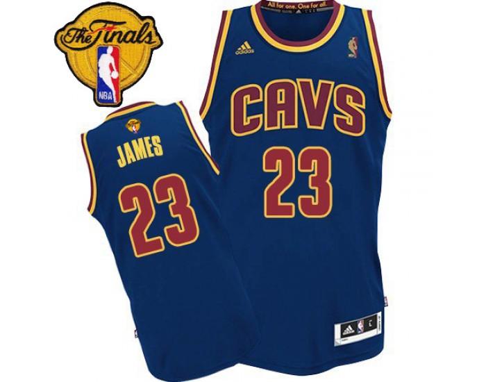 LeBron James Authentic Navy Blue 2016 The Finals Cleveland ...