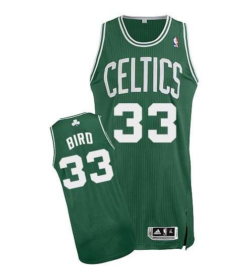 Larry Bird Authentic Green Boston Celtics #33 Road Jersey