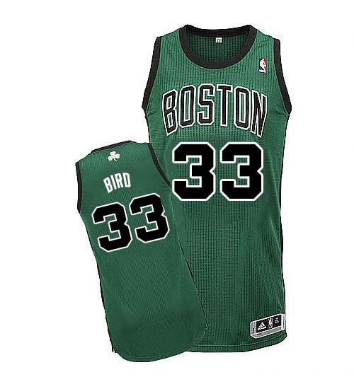 Larry Bird Authentic Green Boston Celtics #33 Alternate Jersey