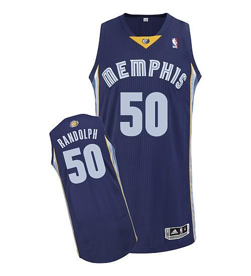 Zach Randolph Authentic Navy Blue Memphis Grizzlies #50 Road Jersey