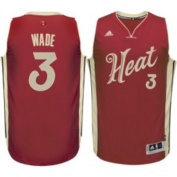 Dwyane Wade Swingman Red Miami Heat 2015-16 Christmas Day #3 Jersey