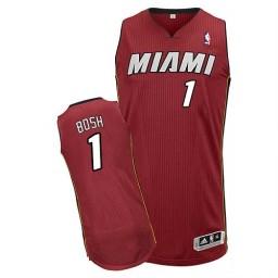 Chris Bosh Authentic Red Miami Heat #1 Alternate Jersey