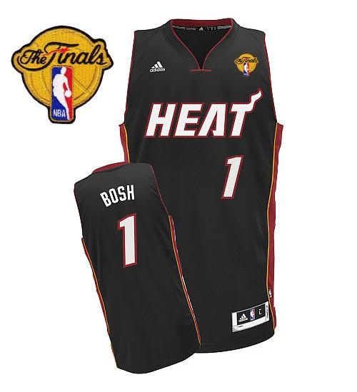 Chris Bosh Swingman Black Finals Miami Heat #1 Road Jersey