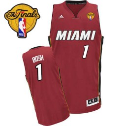 Chris Bosh Swingman Red Finals Miami Heat #1 Alternate Jersey