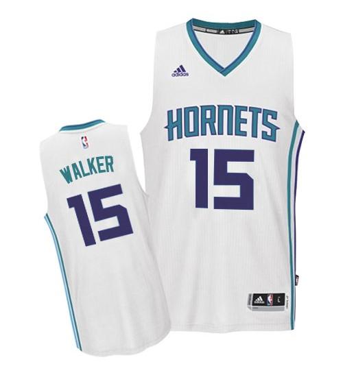 Kemba Walker Swingman White Charlotte Hornets #15 Home Jersey