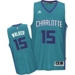 Kemba Walker Swingman Teal Charlotte Hornets #15 Road Jersey