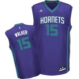 Kemba Walker Swingman Purple Charlotte Hornets #15 Alternate Jersey