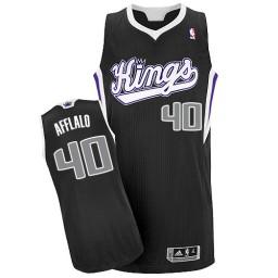 Arron Afflalo Authentic Black Sacramento Kings #40 Alternate Jersey