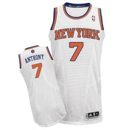Carmelo Anthony Authentic White New York Knicks #7 Home Jersey
