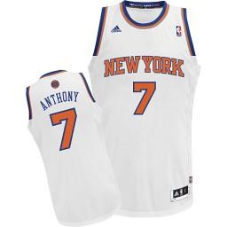 Carmelo Anthony Swingman White New York Knicks #7 Home Jersey