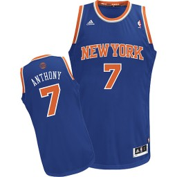 Carmelo Anthony Swingman Royal Blue New York Knicks #7 Road Jersey