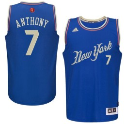 Carmelo Anthony Authentic Royal Blue New York Knicks 2015-16 Christmas Day #7 Jersey