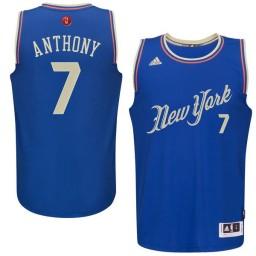 Carmelo Anthony Swingman Royal Blue New York Knicks 2015-16 Christmas Day #7 Jersey