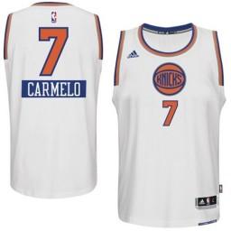 Carmelo Anthony Swingman White New York Knicks 2014-15 Christmas Day #7 Jersey