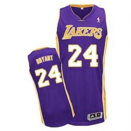 Kobe Bryant Authentic Purple Los Angeles Lakers #24 Road Jersey