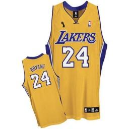 Kobe Bryant Swingman Gold Champions Los Angeles Lakers #24 Home Jersey