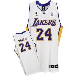Kobe Bryant Swingman White Champions Los Angeles Lakers #24 Alternate Jersey