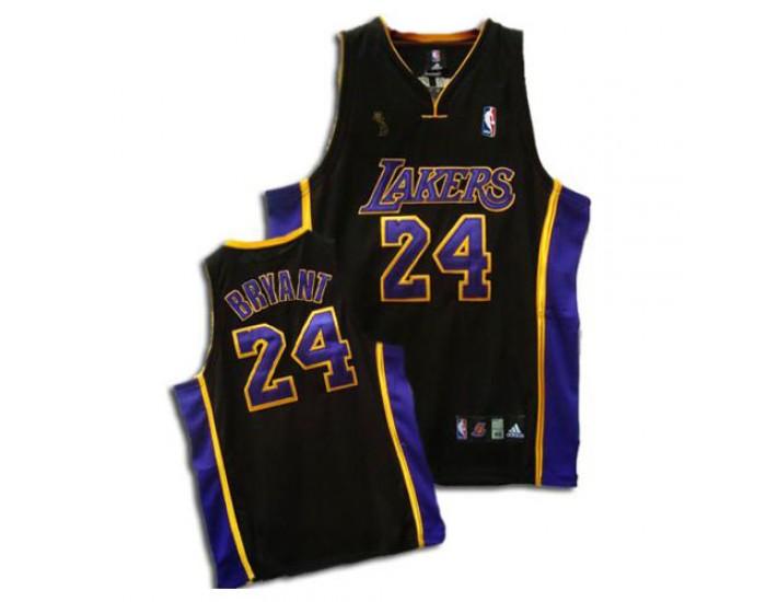 Kobe Bryant Authentic Black Purple Champions Los Angeles Lakers 24 Jersey