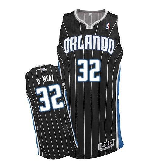 Shaquille O'Neal Authentic Black Orlando Magic #32 Alternate Jersey