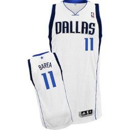 Jose Barea Authentic White Dallas Mavericks #11 Home Jersey