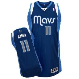 Jose Barea Authentic Navy Blue Dallas Mavericks #11 Alternate Jersey