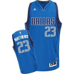 Wesley Matthews Swingman Royal Blue Dallas Mavericks #23 Road Jersey