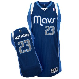 Wesley Matthews Authentic Navy Blue Dallas Mavericks #23 Alternate Jersey